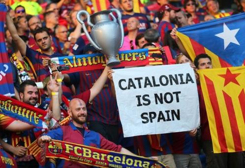 Aficionados del Barcelona en las gradas