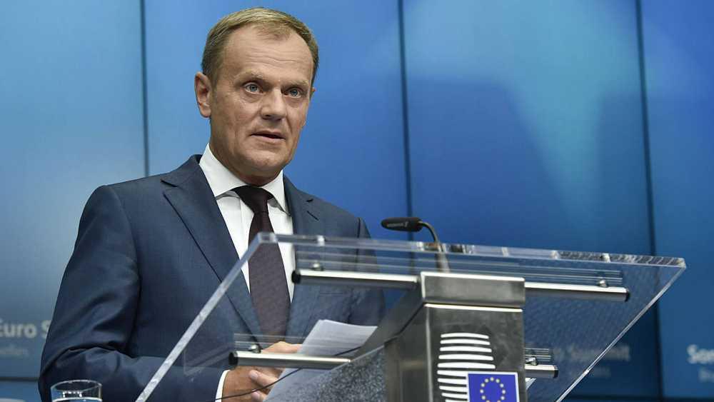 El presidente del Consejo Europeo, Donald Tusk, durante una rueda de prensa.
