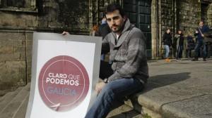 Breogán Riobóo, secretario general de Podemos en Galicia.