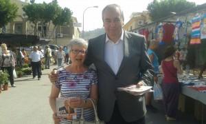 Armando Robles, presidente y fundador de Soluciona, durante la campaña para las elecciones del 24M en Málaga