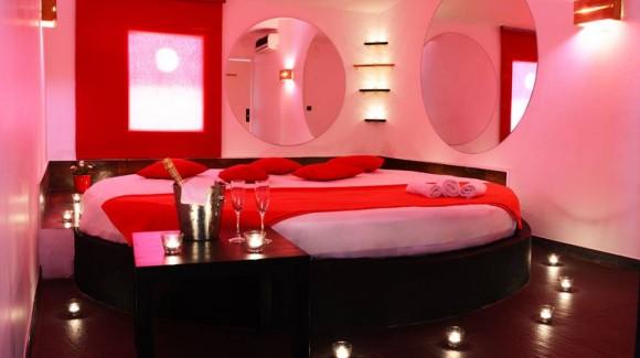 Una de las habitaciones del Club Diamant