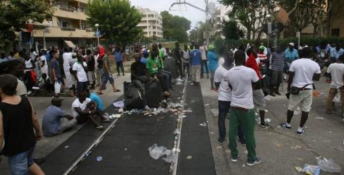 Manifestación de manteros tras la muerte de un inmigrante en Salou