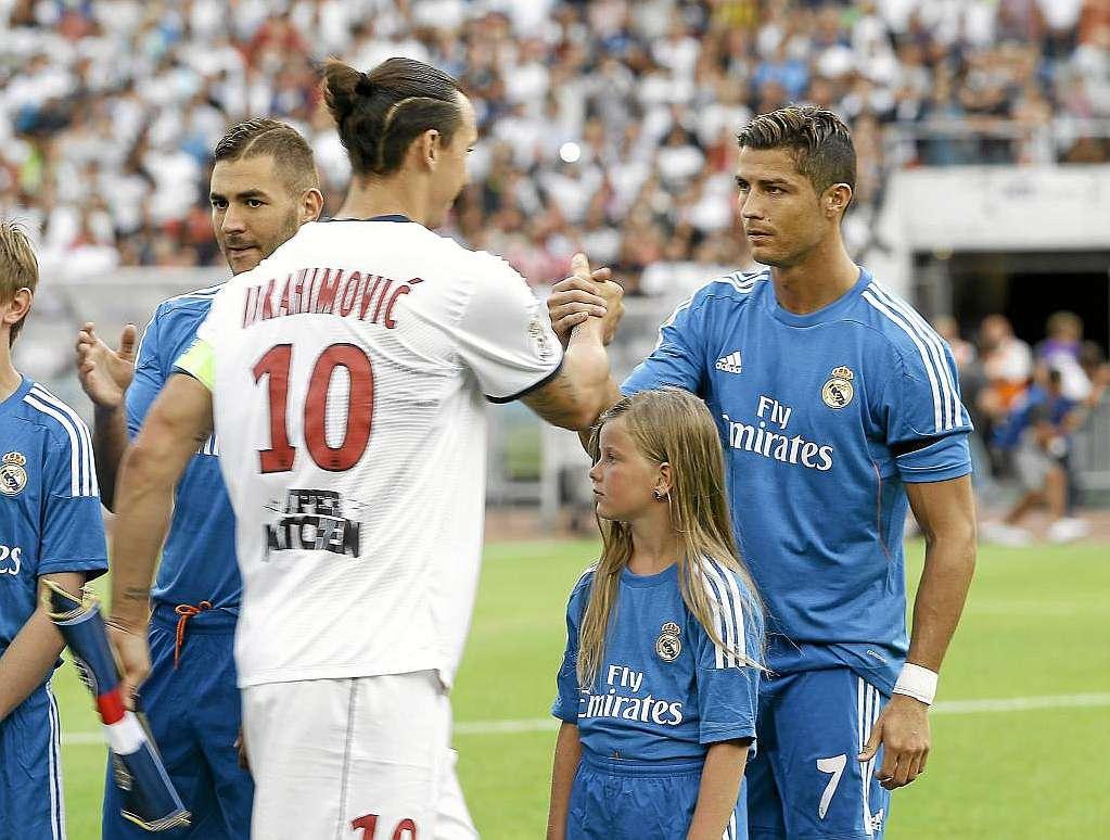 Ibrahimovic y Ronaldo, principales estrellas del PSG y Madrid