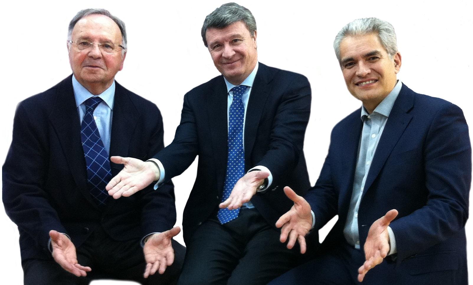 Miguel Bernad, a la izquierda