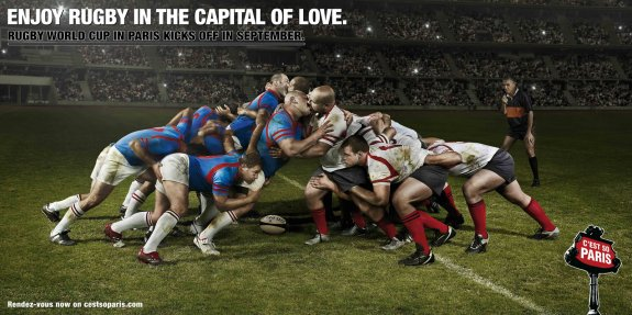 Imagen que aparece en los folletos de las Escuelas Deportivas Muncipales de Dénia para ilustrar el rugby y que es de una campaña publicitaria francesa.