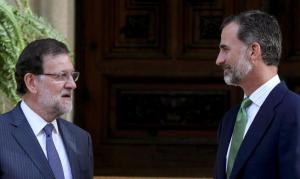 Felipe VI y Mariano Rajoy, en una reunión en el Palacio de Marivent.