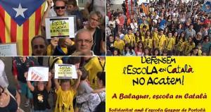 Manifestación el pasado 7 de septiembre de la Asociación de Padres de Alumnos del Colegio Público Gaspar de Portolá