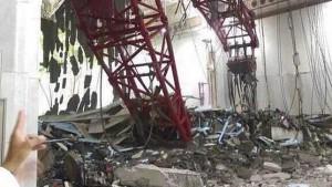 Vista general de la Mezquita de la Meca en Arabia Saudí donde ha caído una grúa