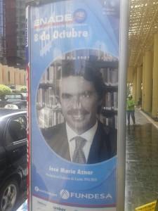 Anuncio del acto de Fundesa en el que interviene José María Aznar