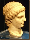 Busto de la diosa Minerva