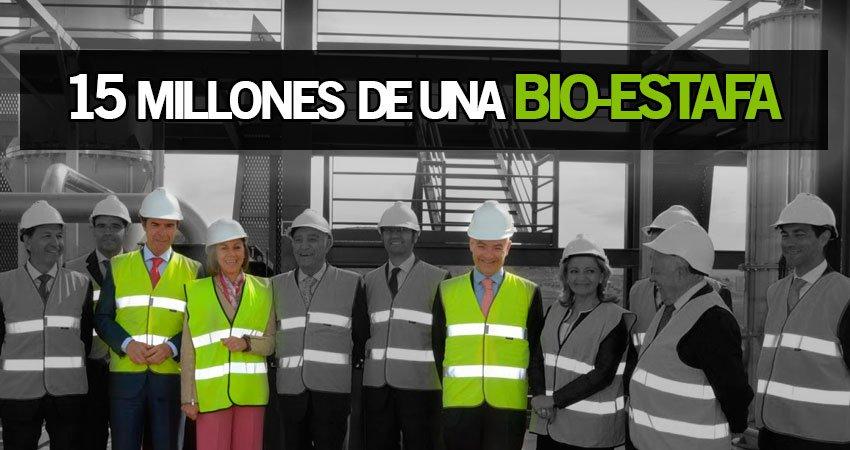 Inauguración de la planta de biocombustible de Barajas de Melo que jamás llegó a estar a pleno rendimiento