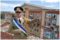 """Kevin Baugh, presidente de la """"República de Molossia"""""""