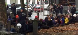 Los manifestantes retenidos por las autoridades