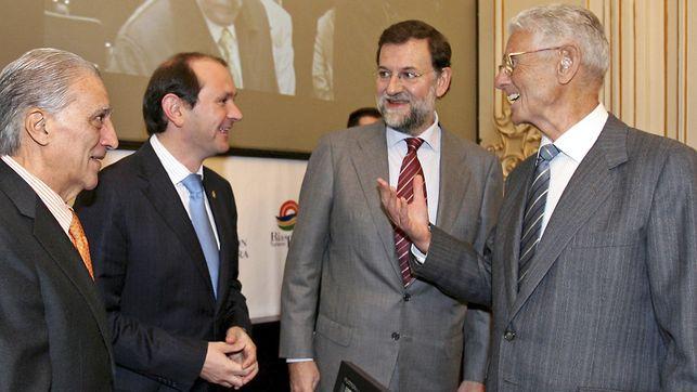 Mariano Rajoy junto a su padre en una foto de archivo