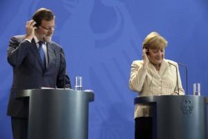 Mariano Rajoy y Angela Merkel en una comparecencia conjunta