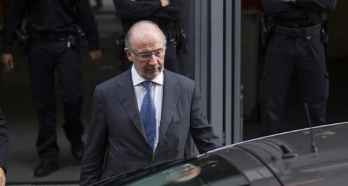 Rodrigo Rato a la salida de los juzgados de Madrid