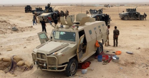 Llegada de refuerzos militares para las tropas iraquíes en Ramadí