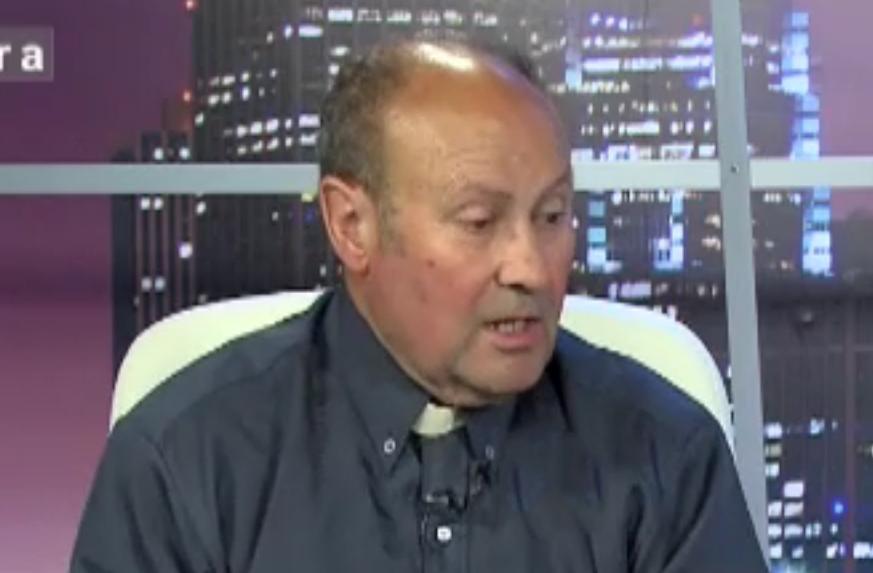 El Padre Jesús Calvo, durante su presencia en directo en 'La Ratonera', a finales del pasado julio