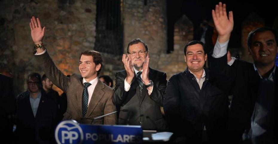 """En su primer mitin de la precampaña, Rajoy apela """"a todas las fuerzas políticas y sociales"""" para hacer frente a los independentistas"""