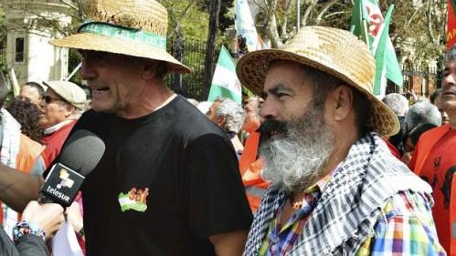 Diego Cañamero y Juan Manuel Sánchez Gordillo