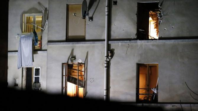 Así quedó el apartamento después de la explosión
