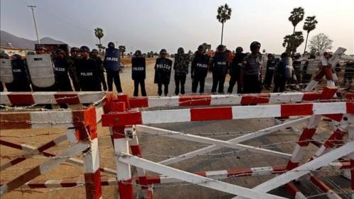 La policía acordona la zona del accidente