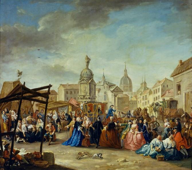 En la imagen, la Plaza de la Cebada en la época.