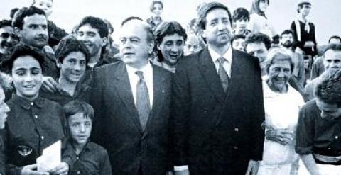 Javier de la Rosa con el entonces president de la Generalitat, Jordi Pujol.