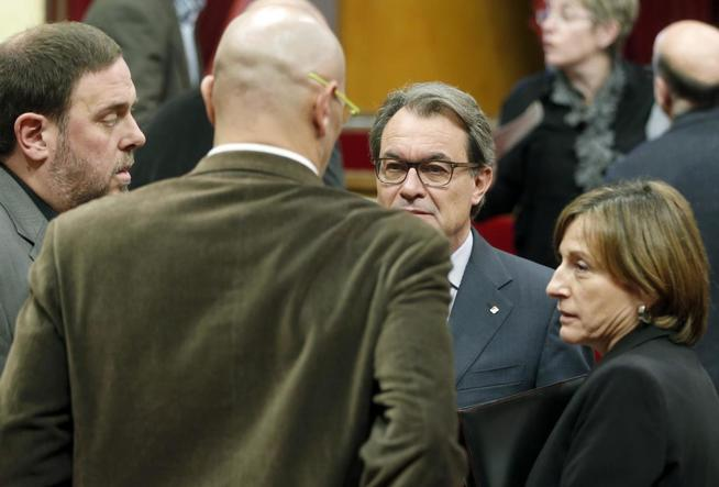 Oriol Junqueras, Artur Mas, Carme Forcadell y Raül Romeva.