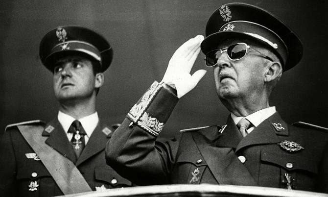 Franco y Juan Carlos I