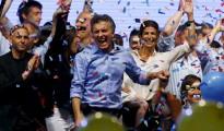 Mauricio Macri celebra su victoria en las elecciones argentinas