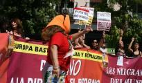 Manifestación a favor de los derechos de los inmigrantes.