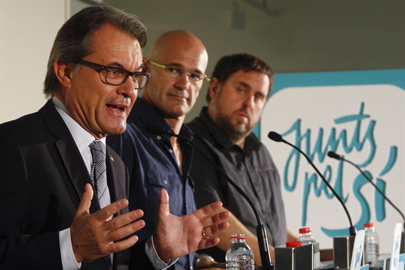 Artur Mas, Raúl Romeva y Oriol Junqueras