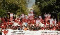 Cientos de personas se manifestaron frente al TC para pedir que se pronuncie sobre la ley del aborto