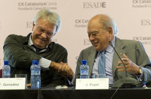 Felipe González y Jordi Pujol