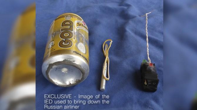 La bomba casera con la que ISIS asegura haber derribado el avión ruso en Egipto
