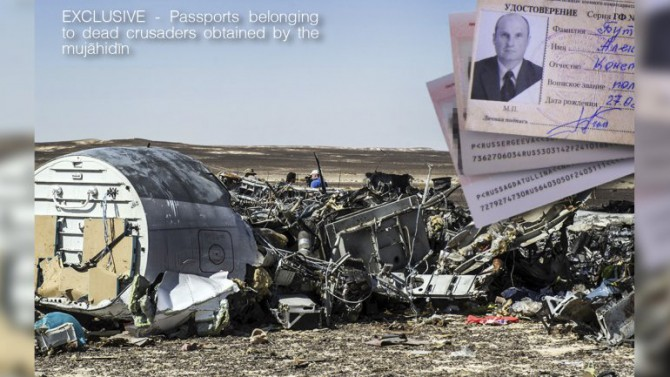 Pasaportes de las víctimas del avión ruso que ISIS hizo explotar Los