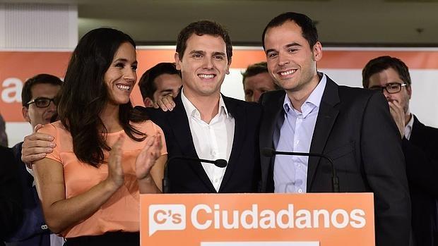 Begoña Villacís, Albert Rivera e Ignacio Aguado