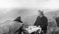 Franco con el general Dávila en el frente de Cataluña en el invierno de 1938