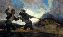Duelo a garrotazos, de Francisco de Goya