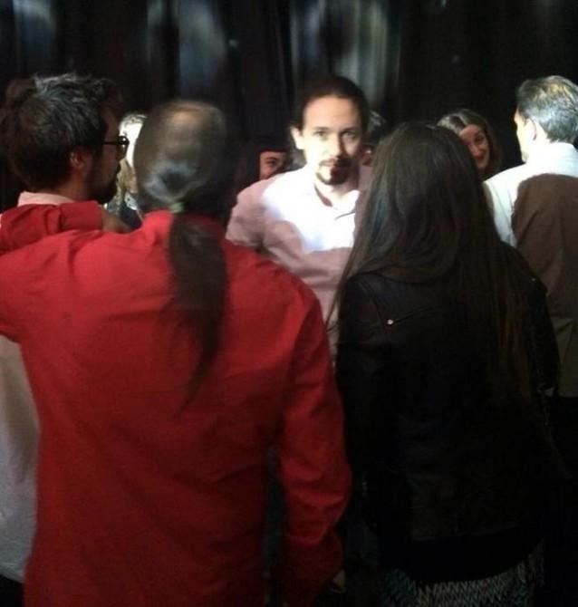Pablo Iglesias, en la suntuosa fiesta de cumpleaños de Jaume Roures