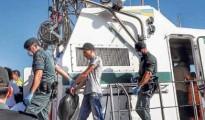 Inmigrantes llegados a Cabrera en una patera