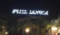 Alumbrado felicitando la Janucá en Torremolinos
