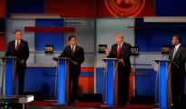 Jeb Bush, Marco Rubio, Donald Trump y Ben Carson durante el debate republicano en Fox Business
