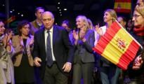 El ministro del interior, Jorge Fernández Díaz, a su llegada a un acto electoral que los populares catalanes celebraron en Barcelona.