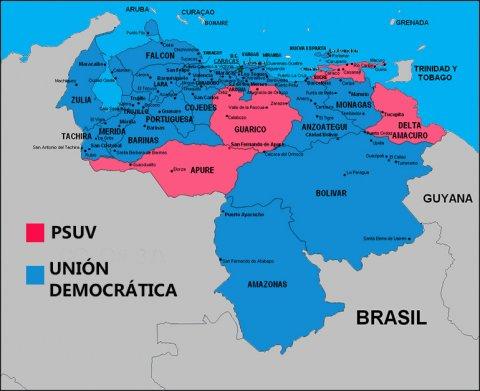 El mapa de la nueva Venezuela. Los nuevos diputados asumirán el 5 de enero de 2016