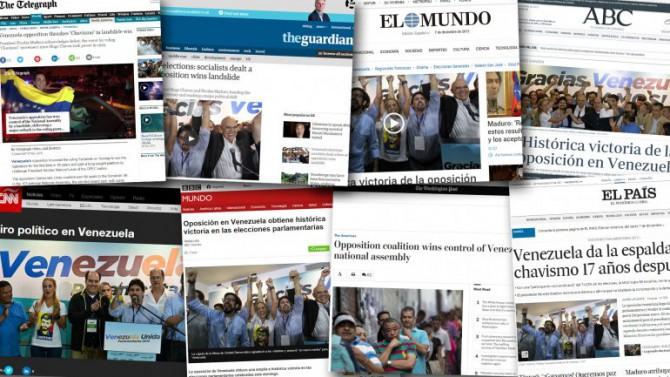 Los medios del mundo le dedicaron una amplia cobertura a las elecciones en Venezuela