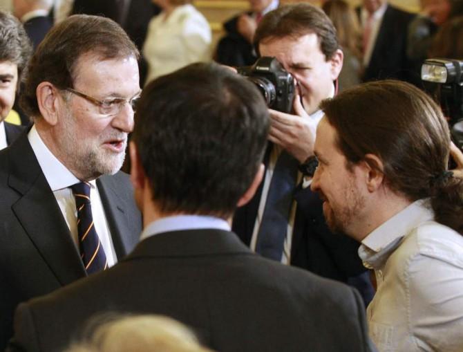 Rajoy e Iglesias, en el Congreso.