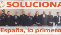 Desiré González y Armando Robles, junto a candidatos de SOLUCIONA al Congreso de los diputados