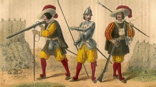 Detalle de los soldados de los Tercios